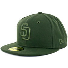 New Era 59Fifty San Diego Padres Tonal Fitted Hat (Dark Seaweed Green) Cap