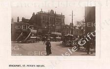 Cheshire Stockport St. Peter's Square Old Photo Print - Size Select - England