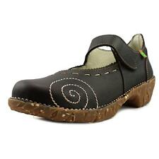 El Naturalista N095 Women  Round Toe Leather Brown Mary Janes