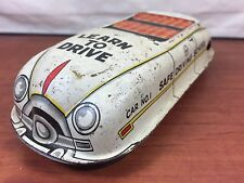 Vintage Marx Tin Wind Up Litho Learn To Drive Driver Training Car For Parts