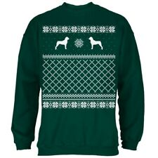 Rottweiler Ugly Christmas Sweater Forest Adult Sweatshirt