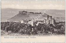 Cheshire Beeston Castle and Peckferton Hall Old Photo Print - England