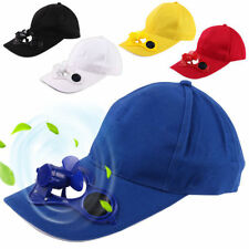 Camping Peaked Cap with Solar Powered Fan Summer Baseball Hat Cooling Fan Cap A2