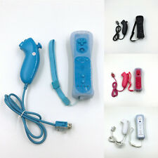 Wii Remote +Nunchuck Controller For Nintendo Wii +Silicone Case Hot Sale.