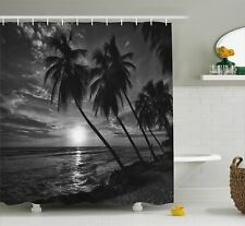 East Urban Home Tropical Coconut Palm Trees Print Shower Curtain