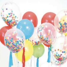 """12""""/18"""" Confetti Filled Latex Helium Balloons 5'' Foil Balloons Party Home Decor"""