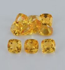 Natural Citrine Faceted Cut Cushion 4mm - 9mm Yellow Color AA Loose Gemstone