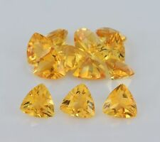 Natural Citrine Faceted Cut Trillion 3mm - 9mm Yellow Color AA Loose Gemstone