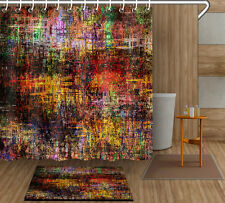 "Shower Curtain Abstract Old Bathroom Mat Waterproof Polyester Fabric 72/79"" 4095"