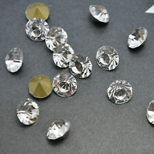 Crystal Clear Rhinestones Point back Glass Chatons Strass Nail Art Beads C1