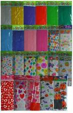 CELLOPHANE PARTY (Loot) BAGS - Solid Colours & Patterns/Themes {fixed UK p&p}