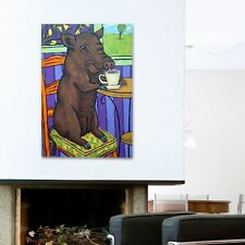 Latitude Run 'At the Coffee Shop' Painting Print on Wrapped Canvas