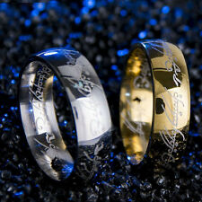 Unisex Lord of the Ring Stainless Steel The One Ring Bilbo's Hobbit Gold Rings
