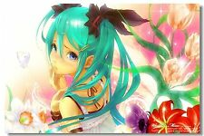 Poster Silk Hatsune Miku Vocaloid Music Anime Kakashi Japan Anime Room Print 515