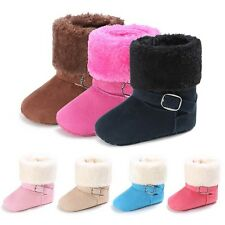 Baby Boy Girls Newborn Winter Warm Boots Toddler Infant Soft Sole Shoes 0-18M
