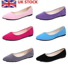 Womens Ladies Flat Pumps Glitter Ballet Ballerina Dolly Bridal Work Casual Shoes