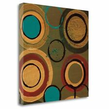'Circle Designs I' by Leslie Bernsen Painting Print on Wrapped Canvas