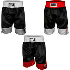 """Title Boxing Force 4"""" Waistband Satin Boxing Trunks"""