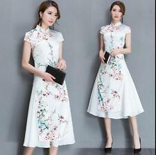New Vintage Women Dress Party QiPao Cheongsam Evening Chinese Long Dresses Gown