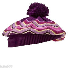 MISSONI FOR TARGET GIRLS BERET AND GLOVES SIZE XS/S, M/L PURPLE PASSIONE - NEW