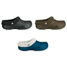 Crocs Mammoth Clogs - black brown navy - lined and warm