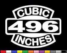 V8 496 CUBIC INCHES ENGINE DECAL SET 454 BBC STROKER 8.1 EMBLEM STICKERS