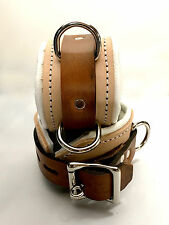 Padded Locking Leather wrist or ankle cuffs w/ connector Medical look
