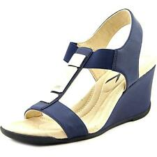 Anne Klein AK Loona Women  Open Toe Synthetic  Wedge Sandal NWOB