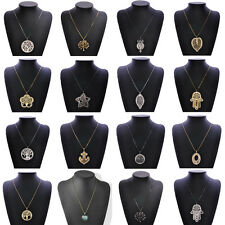 Fashion Charms Jewelry Tree of life Leaves Long Chain Sweater Pendant Necklace
