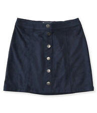 aeropostale kids ps girls' snap-front faux suede skirt