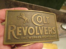 VINTAGE COLT REVOLVERS BELT BUCKLE BY TIFFANY & CO BRASS FOR PARTS OR REPAIR