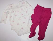 baby Gap NWT Girls Knit Set Porcupine Print Bodysuit Top w/ Footed Pants
