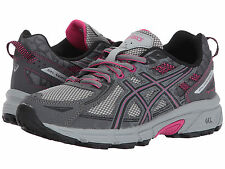ASICS GEL VENTURE 6 CARBON PINK BLACK D WIDE WOMENS SHOES  ** WORLDWIDE SHIPPING