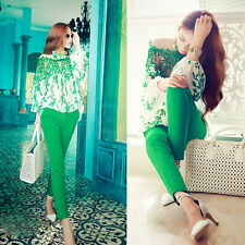 Lace Long Sleeve Embroidery Patchwork Hot Blouse Women Leaf Pattern Chiffon