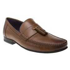 New Mens Ted Baker Tan Brown Simbaa Leather Shoes Loafers And Slip Ons On