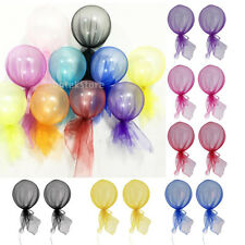 2pcs 12 Inch Tulle Latex Balloons Party Decoration Wedding Anniversary Birthday