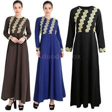 Boho Long Dress Maxi Evening Cocktail Party Women Gown Kaftan Abaya Muslim L6B6