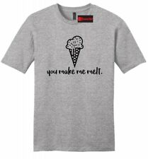 You Make Me Melt Mens Soft T Shirt Valentines Day Gift Ice Cream Graphic Tee Z2