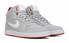 NIKE COURT BOROUGH MID TOP LEATHER GREY RED WHITE MENS SHOES **BEST SELLER