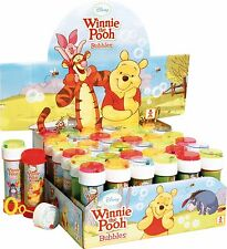 Box of 36 or 6 Girls Boys Kids Disney Winnie the Pooh Bubbles Party Bag Fillers