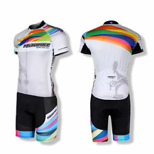 SPAKCT Cycling Suits Short Sleeves Jersey&Shorts Set Pro​vence Black White Suit