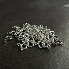 925 Sterling Silver,5.5mm Spring Ring Clasp,open Jump ring,5,10,20,30,50,100 pcs