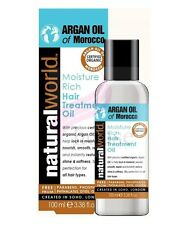 100% Pure Organic Natural Moroccan Argan Oil Hair Treatment - 100ml ,25ml