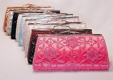 Cheap Beaded Satin Evening Bag Clutch Purse Prom Weddng Party Bridal - P658