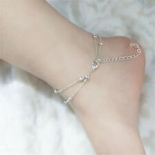 Jewelry Women Bracelet 8 Words Sexy Beach 1Pcs Anklet Double Chain Gift
