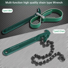 8 Inch Heavy Duty Oil Filter Chain Wrench Oil Cup Removal Plumbing Pipe Tool DY