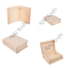 Unpainted Wooden Book Case Box, Large & Small, DECOUPAGE, ART CRAFT