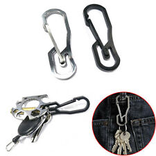 New Stainless Steel Buckle Carabiner Keychain Key Ring Clip Hook Outdoor