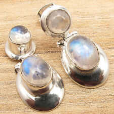 925 Sterling Silver Plated Multistone Earrings ! Round, Oval Gemstone Jewelry
