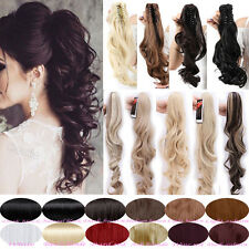 Mega Thick Claw Ponytail Clip in Classic Hair Extensions Straight Curly Wavy A94